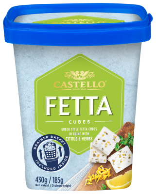 Castello® Citrus and Herbs Fetta Cubes in Brine