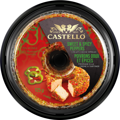 Castello® Cream Cheese with Sweet & Spicy Peppers