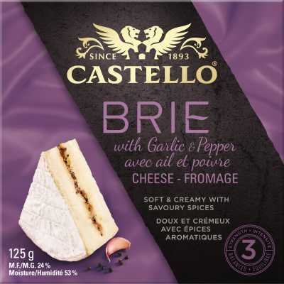Castello® Brie Cheese with Garlic and Pepper 125g