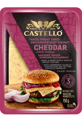Castello® Savoury Onion Cheddar Slices