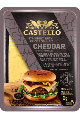 Castello® Cracked Black Pepper Cheddar Slices