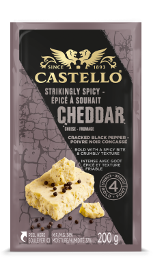 Castello® Strikingly Spicy Cheddar with Cracked Black Pepper