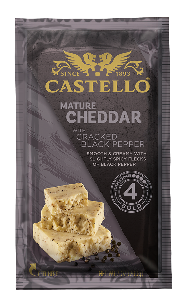 Castello® Cheddar with Cracked Black Pepper